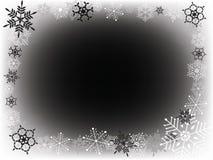 Weißer und schwarzer Schnee Lizenzfreie Stockfotos