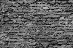 Weißer und schwarzer Wand-Beschaffenheitshintergrund des roten Backsteins Stockfotografie