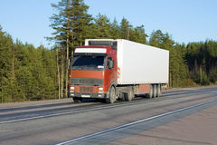 Weißer van truck stockbilder