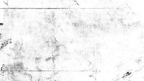 Weißer verkratzter Schmutzhintergrund, alter Filmeffekt für Text stockbilder