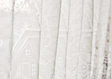 Weißer Vorhang Stockfoto