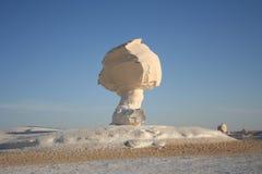Weißer Wüstenfelsen in Egypth Lizenzfreies Stockbild