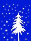 Weißer Weihnachtsbaum lizenzfreie abbildung