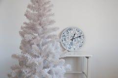 Weißer Weihnachtsbaum ohne Dekorationen Lizenzfreie Stockfotos