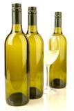 Weißer Wein-Flaschen stockbild