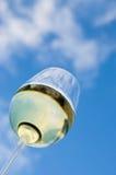Weißer Wein mit blauem Himmel Stockfoto