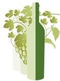 Weißer Wein, Rebeblätter lizenzfreie abbildung