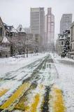 Weißer Winter in Montreal Lizenzfreie Stockfotografie