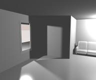 Weißer Wohnzimmer-Hintergrund Lizenzfreies Stockbild