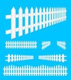 Weißer Zaun Stockbilder