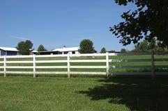Weißer Zaun Stockfoto