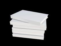 Weißes Abdeckungsbuch lokalisiert auf Schwarzem Lizenzfreie Stockfotos