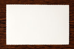 Weißes altes Papier Stockfoto