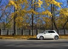 Weißes Auto Stockfotografie