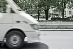 Weißes Auto Stockbild