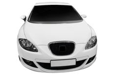 Weißes Auto Lizenzfreies Stockfoto