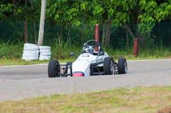 Weißes Auto f1 in Sri Lanka Lizenzfreie Stockfotos