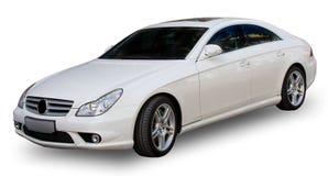 Weißes Auto mit Ausschnittspfad Lizenzfreie Stockfotos