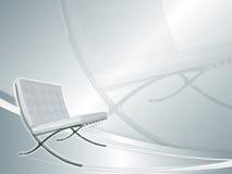 Weißes backround mit Lehnsessel Lizenzfreies Stockbild