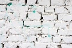 Weißes Backsteinmauermuster Stockbild