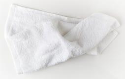 Weißes Badekurorttuch Stockfotografie