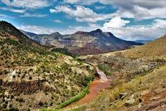 Weißes Berg-Apache-Indianerreservat, Arizona, Vereinigte Staaten Stockbilder
