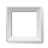 Weißes Bild- und Fotofeld. Vektor. Stockfoto