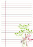 Weißes Blatt Papier Stockfoto