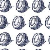 Weißes Blaues des nahtlosen Musterhintergrundes, abstrakt, Muster, Verzierung, Lizenzfreie Stockfotos