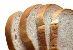 Weißes Brot Stockfoto