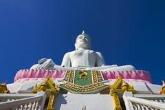 Weißes Buddha-beautifu Stockfotografie
