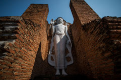 Weißes Buddha-Bild Thailand Stockbild