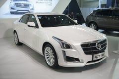 Weißes Cadillac-cts Auto Stockfotos