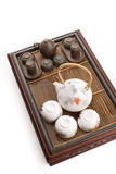 Weißes chinesisches Teeset Lizenzfreies Stockbild