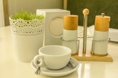Weißes Cup für Tee Stockfotografie