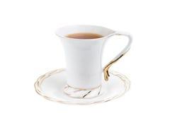 Weißes Cup heißer Tee Stockbild