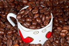 Weißes Cup mit Inneren und Kaffee. Lizenzfreie Stockbilder
