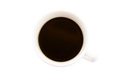 Weißes Cup schwarzer Kaffee Stockbilder