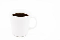 Weißes Cup schwarzer Kaffee Lizenzfreie Stockfotografie