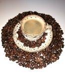 Weißes Cupkaffee-Espresso Lizenzfreie Stockfotos