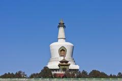 Weißes dagoba im Beihai Park von Peking Stockbild