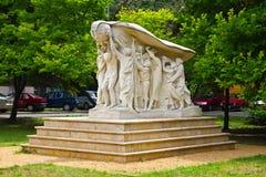 Weißes Denkmal in Szeged stockfotografie