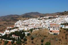 Weißes Dorf, Almogia, Andalusien, Spanien. Stockbilder