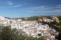 Weißes Dorf in Andalusien Spanien Lizenzfreie Stockfotos