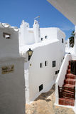 Weißes Dorf Binibeca-Gasse, Menorca, Spanien Stockfotos