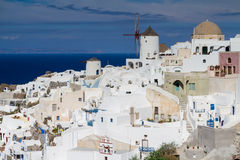 Weißes Dorf von Oia Lizenzfreies Stockfoto