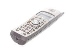 Weißes drahtloses Telefon   Stockbild