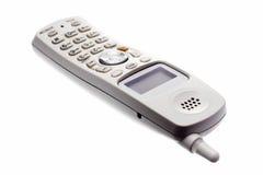 Weißes drahtloses Telefon Stockfotos