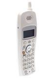 Weißes drahtloses Telefon. Winklig lizenzfreie stockfotografie