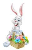 Weißes Ei Hunt Easter Bunny Lizenzfreie Stockfotos